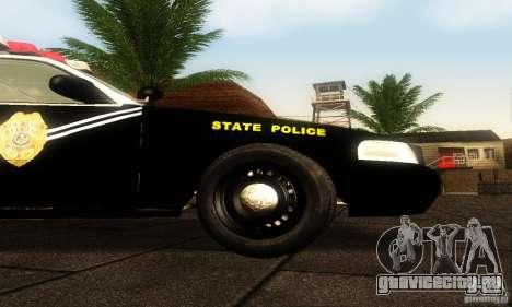 Ford Crown Victoria New Mexico Police для GTA San Andreas вид справа