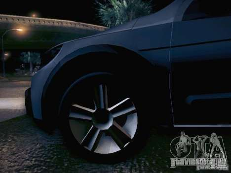 Volkswagen Saveiro Cross для GTA San Andreas вид снизу