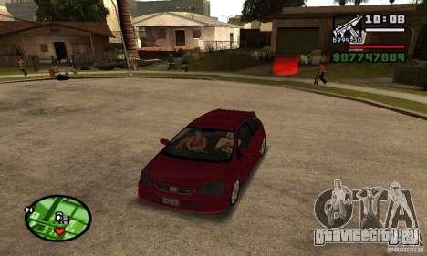 Honda Civic Type R stock для GTA San Andreas вид слева