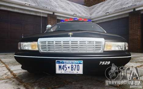 Chevrolet Caprice 1991 Police для GTA 4 вид сверху