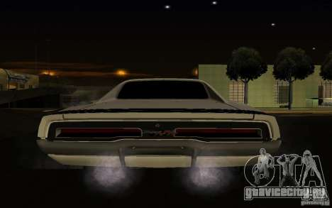 Dodge Charger R/T для GTA San Andreas вид сзади