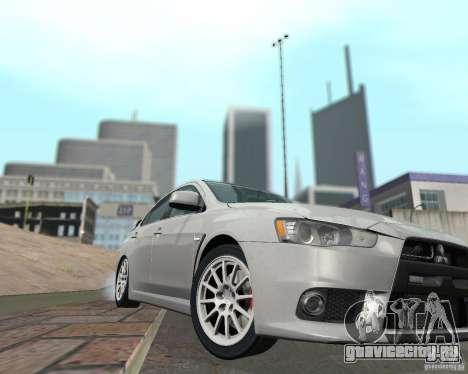 Mitsubishi Lancer Evolution X для GTA San Andreas вид сбоку