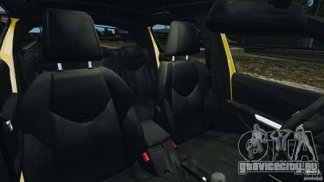 Peugeot 308 GTi 2011 Police v1.1 для GTA 4 вид изнутри