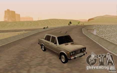 ВАЗ 2106 Сток для GTA San Andreas вид сверху