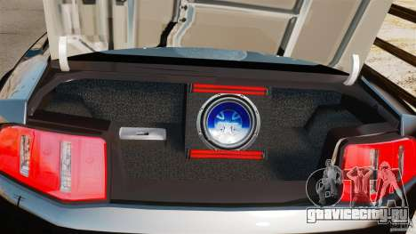 Ford Mustang 2010 GT1 для GTA 4 вид изнутри