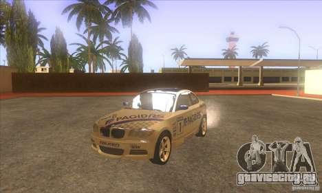 BMW 135i (E82) для GTA San Andreas вид изнутри