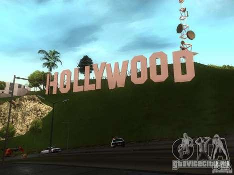 Надпись Hollywood для GTA San Andreas третий скриншот