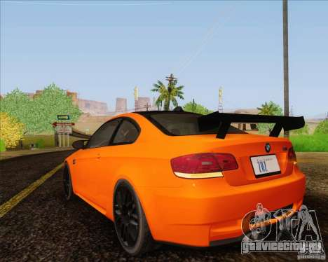 BMW M3 GT-S для GTA San Andreas вид сзади