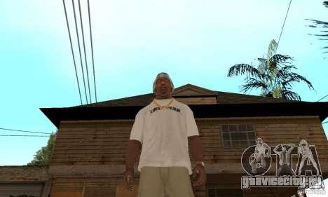 LP shirt white для GTA San Andreas