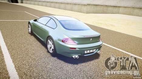BMW M6 v1.0 для GTA 4 вид справа
