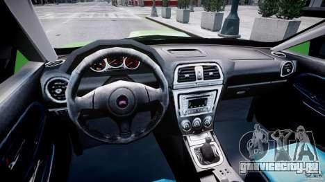 Subaru Impreza STI Wide Body для GTA 4 вид справа