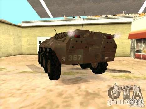 БТР 80 для GTA San Andreas вид сзади слева