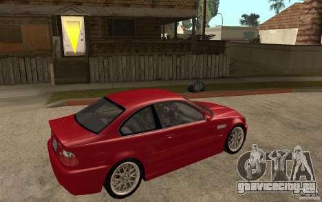 BMW M3 CSL для GTA San Andreas вид справа