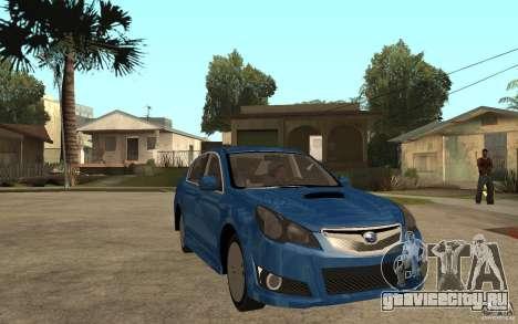 Subaru Legacy B4 2.5GT 2010 для GTA San Andreas вид сзади