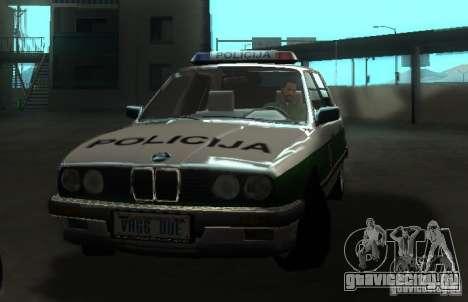 BMW E30 Sedan Police для GTA San Andreas