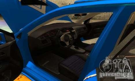 Mitsubishi Lancer Evo 8 Tunable для GTA San Andreas вид снизу