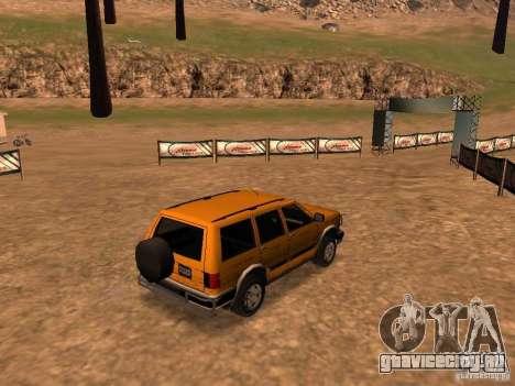 Mountainstalker S для GTA San Andreas вид сзади