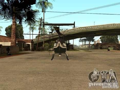 Police Maverick для GTA San Andreas вид сзади слева