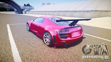 Audi R8 для GTA 4 вид сзади слева