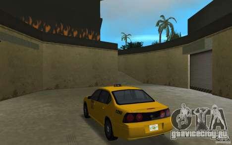 Chevrolet Impala Taxi для GTA Vice City вид сзади слева
