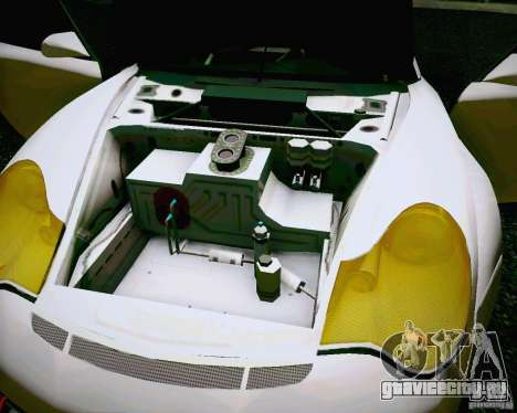 Porsche 911 GT3 для GTA San Andreas вид изнутри