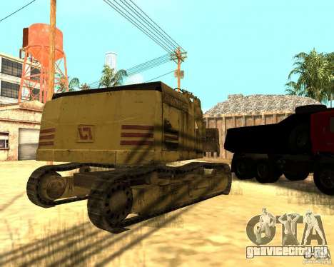 Экскаватор для GTA San Andreas вид справа