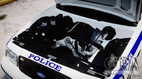 Ford Crown Victoria NYPD для GTA 4 вид изнутри