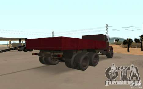 ЗИЛ 6309 для GTA San Andreas вид сзади слева