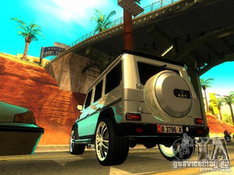 Mercedes-Benz G500 ART для GTA San Andreas вид сзади слева