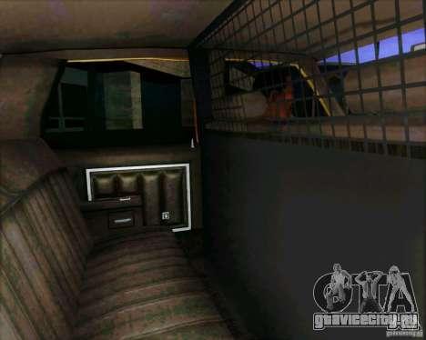 Chevrolet Impala 1986 Taxi Cab для GTA San Andreas вид сзади