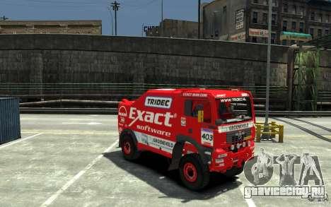 MAN TGA Rally Truck для GTA 4 вид сзади