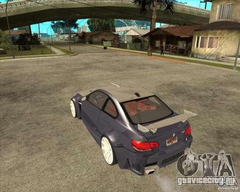 BMW M3 E92 TUNED для GTA San Andreas вид слева