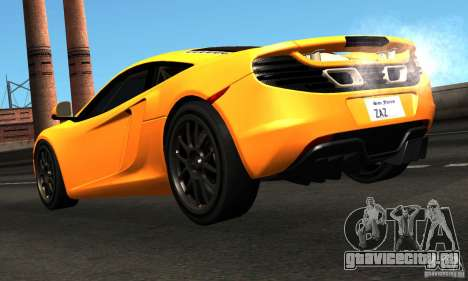 McLaren MP4-12C TT Black Revel для GTA San Andreas вид сзади слева