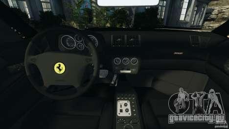 Ferrari F355 F1 Berlinetta для GTA 4 вид сзади