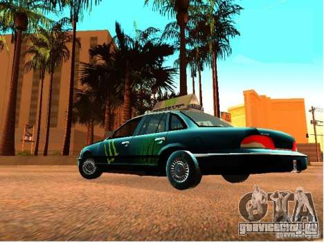 Ford Crown Victoria Taxi для GTA San Andreas вид сзади