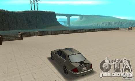 Mercedes Benz AMG S65 DUB для GTA San Andreas вид сзади слева