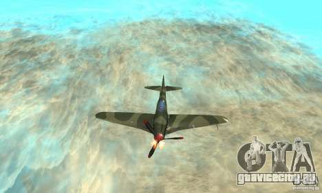 Як-9 времён ВОВ для GTA San Andreas вид сверху