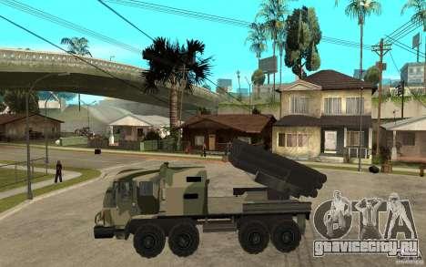 Missile Launcher Truck для GTA San Andreas вид слева