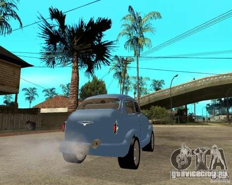 ЗАЗ 965 Запорожец HotRod для GTA San Andreas вид сзади слева