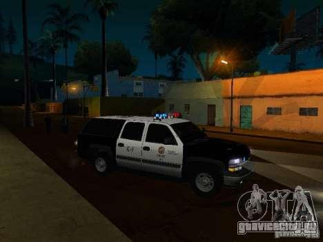Chevrolet Suburban Los Angeles Police для GTA San Andreas вид сбоку