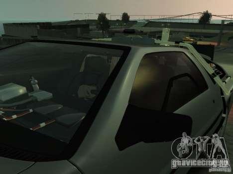 DeLorean BTTF 2 для GTA 4 вид сверху