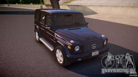 Mercedes Benz G500 (W463) 2008 для GTA 4 вид изнутри