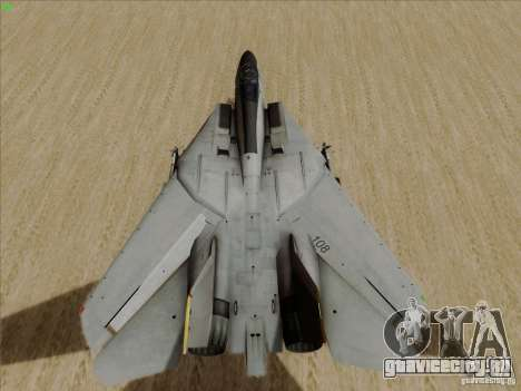 F-14 Tomcat Warwolf для GTA San Andreas вид сзади