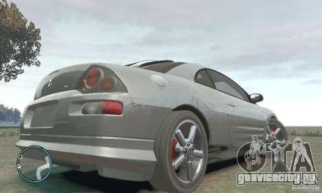 Mitsubishi Eclipse Spyder для GTA 4 вид сзади слева