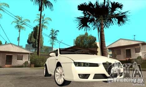 Alfa Romeo Brera для GTA San Andreas вид сзади