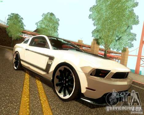 Ford Mustang Boss 302 2011 для GTA San Andreas вид справа