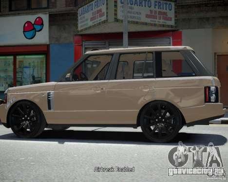 Land Rover SuperСharged для GTA 4 вид сзади