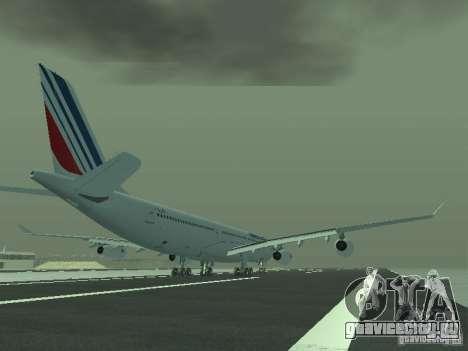 Airbus A340-300 Air France для GTA San Andreas вид справа