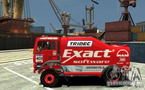 MAN TGA Rally Truck для GTA 4 вид слева