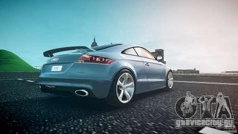 Audi TT RS 2010 для GTA 4 вид снизу